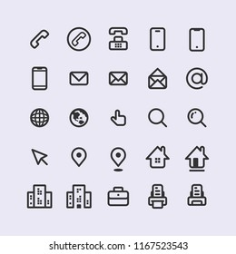 Adorable Sets of Simple Line Vector Business Card Icon
