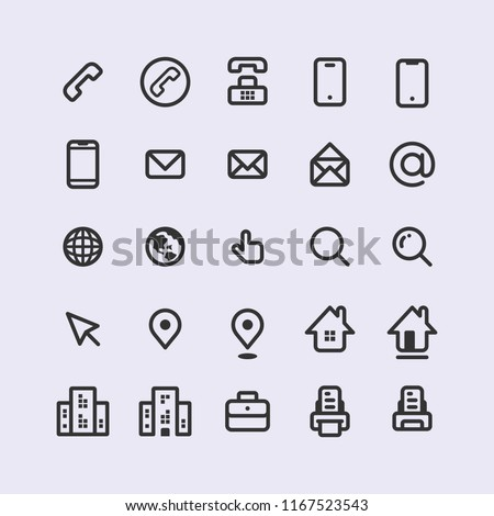 Adorable Sets Simple Line Vector Business Stock Vektorgrafik