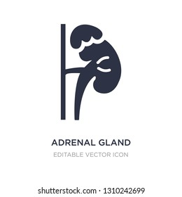 adrenal gland icon on white background. Simple element illustration from Medical concept. adrenal gland icon symbol design.