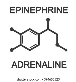 Adrenalin epinephrine molecule vector icon