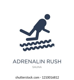 Adrenalin rush icon. Trendy flat vector Adrenalin rush icon on white background from sauna collection, vector illustration can be use for web and mobile, eps10