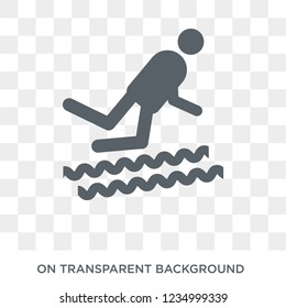 Adrenalin rush icon. Trendy flat vector Adrenalin rush icon on transparent background from sauna collection.