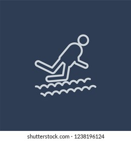Adrenalin rush icon. Trendy flat vector line Adrenalin rush icon on dark blue background from sauna collection.