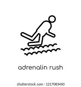 Adrenalin rush icon. Trendy modern flat linear vector Adrenalin rush icon on white background from thin line sauna collection, editable outline stroke vector illustration