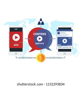 ads advertising background concept vector