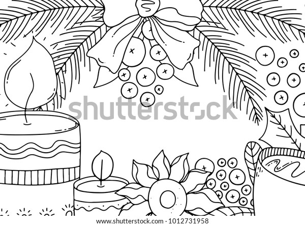 Adult Children Coloring Pages Color Your Stock Vector ...