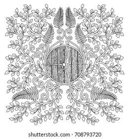 Adult Color Hobitton Door Forest