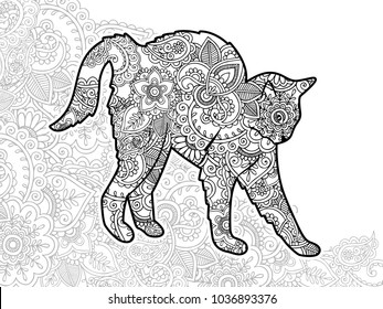 Coloriage Chat Maine Coon.Chat Coloriage Images Stock Photos Vectors Shutterstock