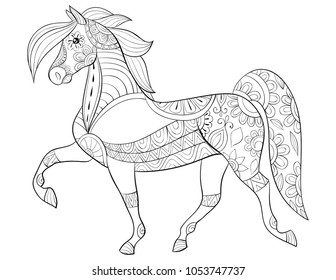Royalty Free Horse Coloring Page Stock Images Photos Vectors