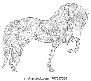 Horses Coloring Book Images Stock Photos Vectors Shutterstock