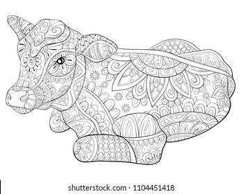 Cows coloring pages in 2020 | Farm animal coloring pages, Animal ... | 280x347