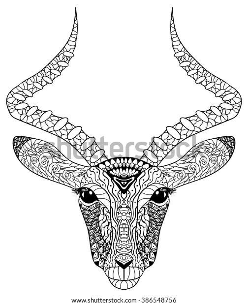 Adult Coloring Page Antistress Art Therapy Stock ...