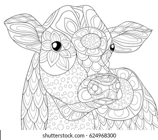 Cow Coloring Pages Stock Vectors, Images & Vector Art ...