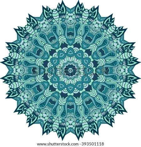 Adult Coloring Page Mandala Vector Art Stock Vector Royalty Free