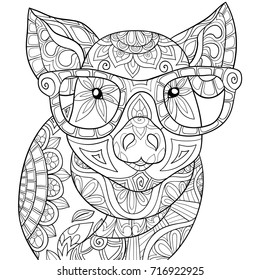 Adult Coloring Pages Animals Images Stock Photos Vectors Shutterstock