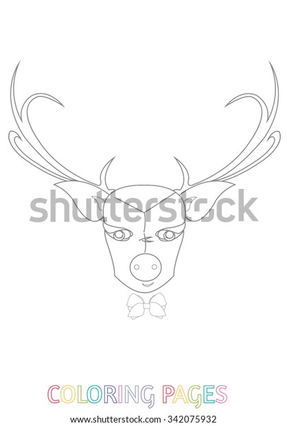 Free Printable Reindeer Coloring Pages For Kids | 620x418