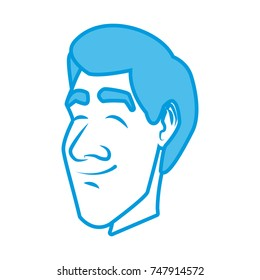 Adult man face cartoon