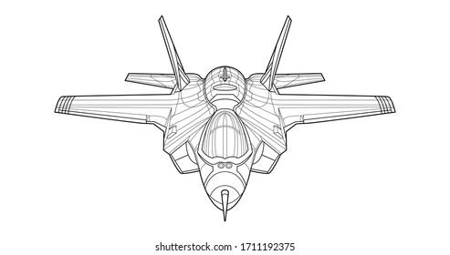 Jet Coloring Page Hd Stock Images Shutterstock