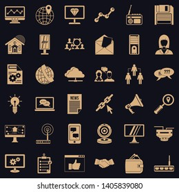 Adv file icons set. Simple style of 36 adv file vector icons for web for any design