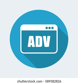 ADV window - Vector flat minimal icon