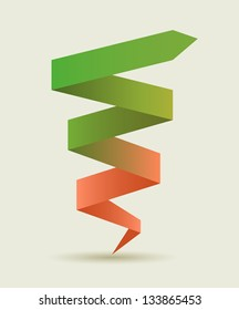 Advance arrow banner.  Promotional infographics vector design.