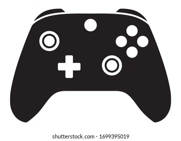 Advance game controller or gamepad flat vector icon for gaming apps and websites