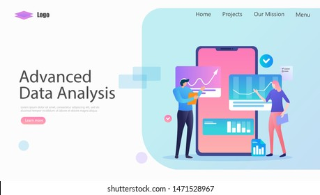 Advanced Data Analysis Vector Illustration Concept, Suitable for web landing page, ui, mobile app, editorial design, flyer, banner, and other related occasion
