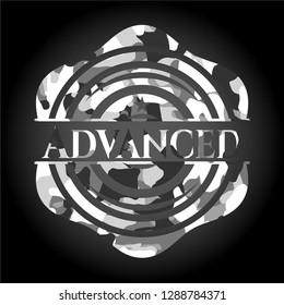 Advanced on grey camo pattern