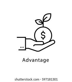 Advantage Vector Line Icon