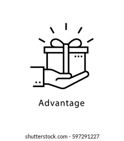 Advantage Vector Line Icon