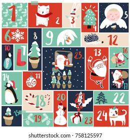 Advent calendar and christmaa decoration
