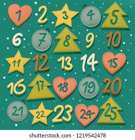 Advent calendar - Christmas holiday background