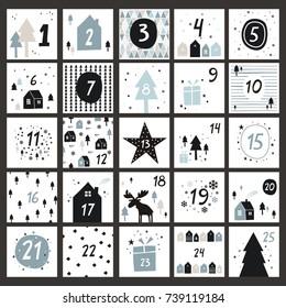 Advent calendar in Scandinavian style