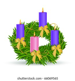 Advent wreath icon. vector