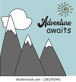 Adventure Awaits Artboard painting for wall design