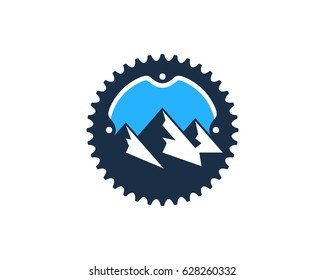 Adventure Bike Icon Logo Design Element