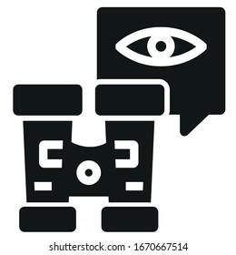 Adventure binocular black icon on white background