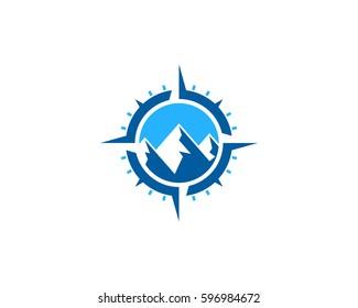 Adventure Compass Logo Design Element
