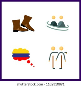 adventure icon. columbia and frienship vector icons in adventure set. Use this illustration for adventure works.