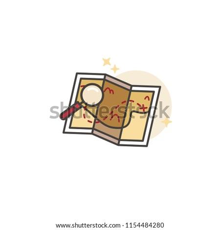 adventure map pin icon logo design stock vector royalty free