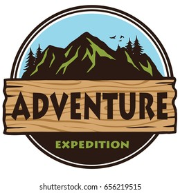 Adventure Mountain Expedition Camping Logo  Template Vector