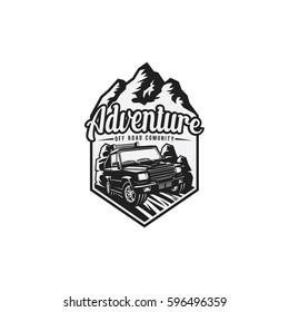 Adventure Off Road Club Emblem, Logo Vector