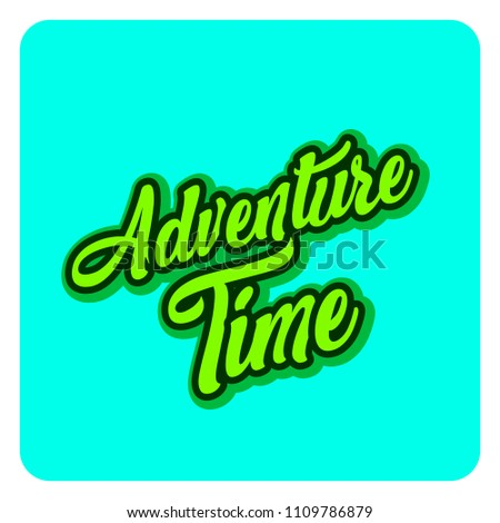 Adventure Time Template Banner Lettering