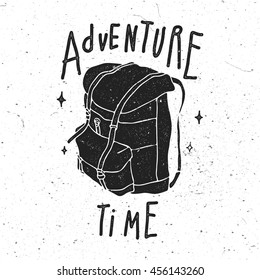 Adventure Time Vintage Stylized Logo.