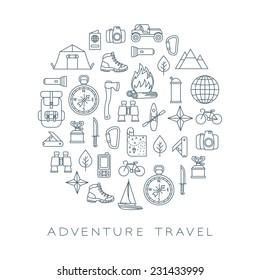 adventure travel round card