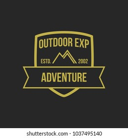 Adventure vintage logo design element illustration emblem isolated company logotype outdoor