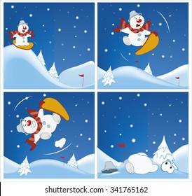 Adventures of a Snowman. Cartoons and Comics for you Design