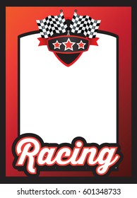 advert, poster or marketing template for motorsports poster
