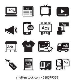 Advertise icon set