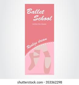 Advertising ballet school. Vector illustration